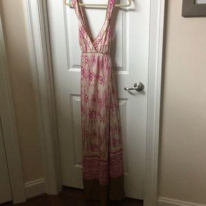 Ann taylor loft silk long dress
